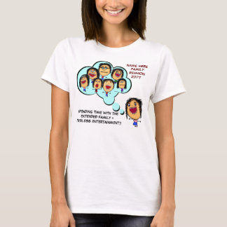 Family Reunion Funny Cartoon T-Shirt