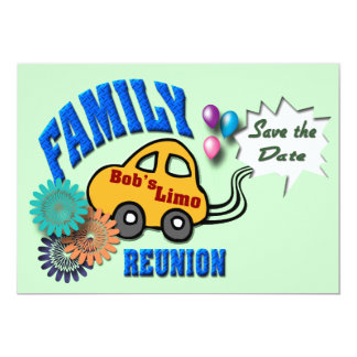 Family Reunion 13 Cm X 18 Cm Invitation Card
