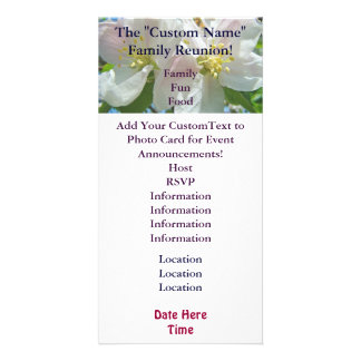Family Reunion Invitation Cards Event Blossoms Picture Card
