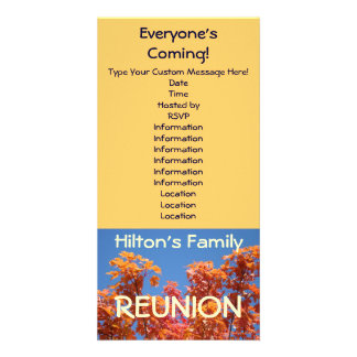 Family Reunion Invitations Announcement Cards Customised Photo Card