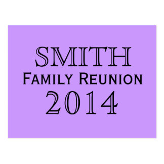 Family Reunion Lavender Background Postcard