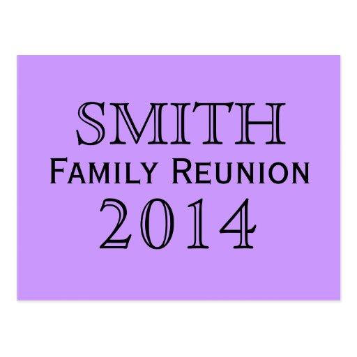 Family Reunion Lavender Background Postcard