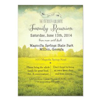 Family Reunion Park Invitation