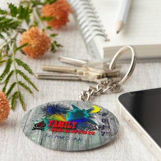 Family reunion party basic round button key ring