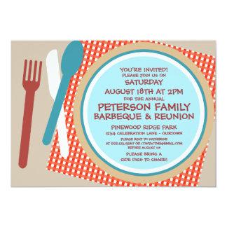 Family Reunion Picnic Barbeque Invitation