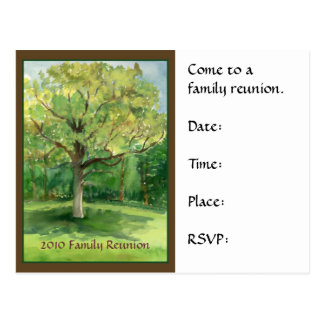Family Reunion Postcard Invitation