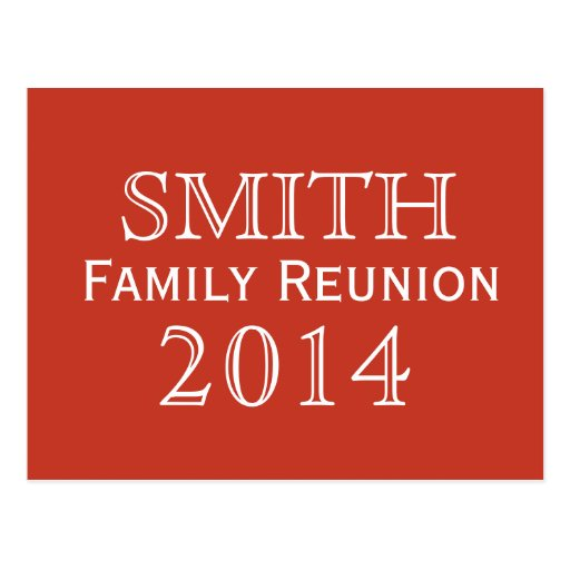 Family Reunion Red Background Postcard