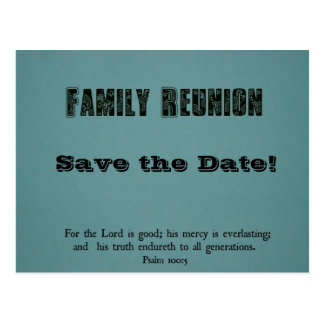 Family Reunion: Save the Date! Postcard