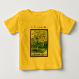 Family Reunion Shirt, Youngest, Shade Tree Baby T-Shirt