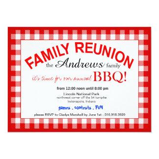 Family Reunion Summer BBQ Picnic Card