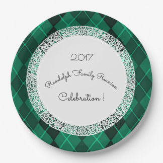 Family-Reunion_Template(c)Jewel-Green 9 Inch Paper Plate
