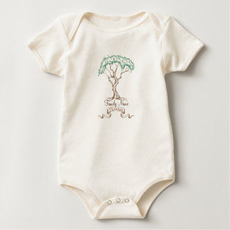 Family Reunion Tree Baby Bodysuit