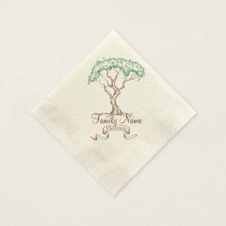 Family Reunion Tree Disposable Serviettes