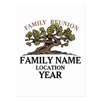 Family Reunion Tree Postcard