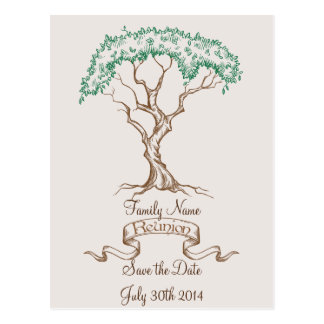 Family Reunion Tree Save the Date Postcard