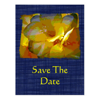 Family Reunion Yellow Freesia Save the Date Postcard