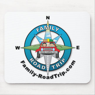 Family Road Trip Compass Rose Logo Mouse Pad