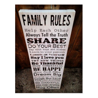Family Rules Postcard