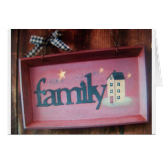 family sign greeting card