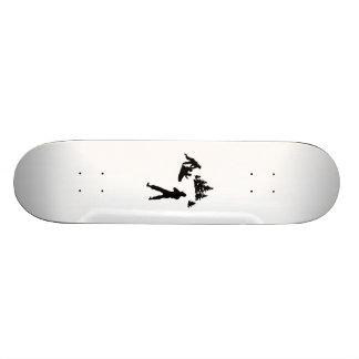 Family Snow Sledding Silhouette Custom Skate Board