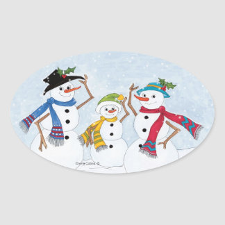 Family Snowmen Stickers
