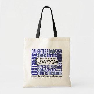Family Square CFS Chronic Fatigue Syndrome Canvas Bag