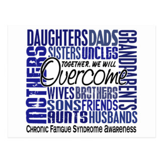 Family Square CFS Chronic Fatigue Syndrome Postcard