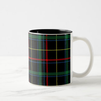 Family Tartan Pattern Two-Tone Coffee Mug