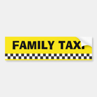 Family Taxi Service Bumper Sticker