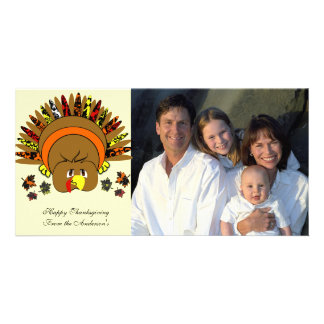Family Thanksgiving Photo Choose Background Color Photo Card