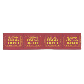 Family Theater Tickets Short Table Runner