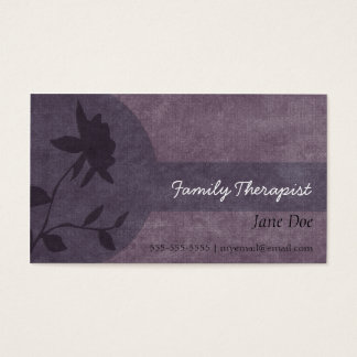 Family Therapist Appointment Card