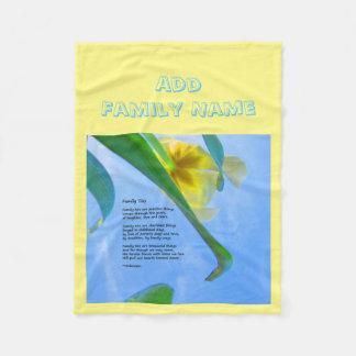 Family Ties - add your name - Fleece Blanket