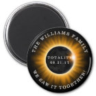 Family Totality Solar Eclipse Personalised Magnet