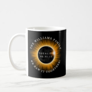 Family Totality Solar Eclipse Personalized Coffee Mug