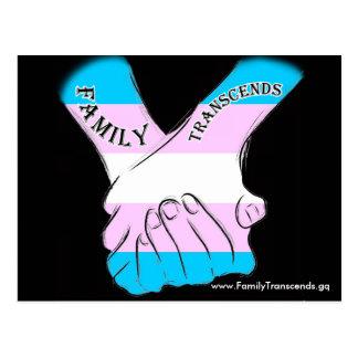 Family Transcends Black Logo Postcard