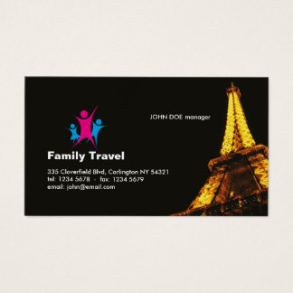 Family Travel Professional Business Card