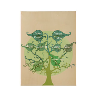 Family Tree Custom Wood Poster