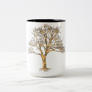Family Tree:  Different Branches, Same Roots Two-Tone Coffee Mug