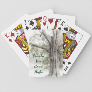 Family Tree Game Night Playing Cards