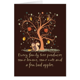 Family Tree Humor Design Card