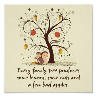 Family Tree Humor Poster