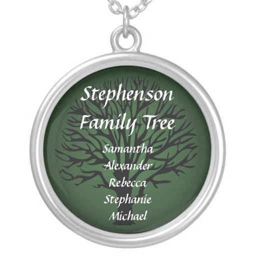 Family Tree Personalised Name Pendant