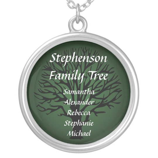 Family Tree Personalised Name Pendant