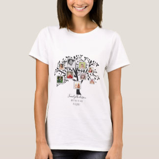 Family Tree Photo Collage Template Personalized T-Shirt