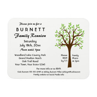 Family Tree Reunion Invitation Magnet