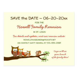 Family Tree Reunion Party Save the Date Postcards