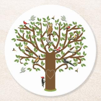 Family Tree Round Paper Coaster