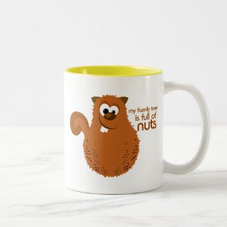 Family Tree Squirrel Funny Genealogy Quote Coffee Mug