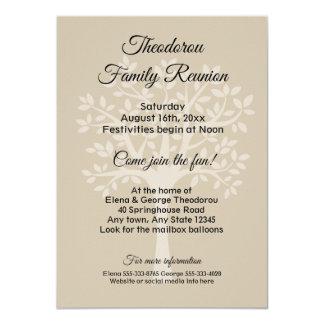 Family Tree Taupe Family Reunion Invitation